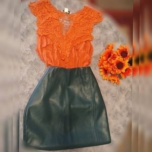 Gorgeous, orange, flowy, lace top